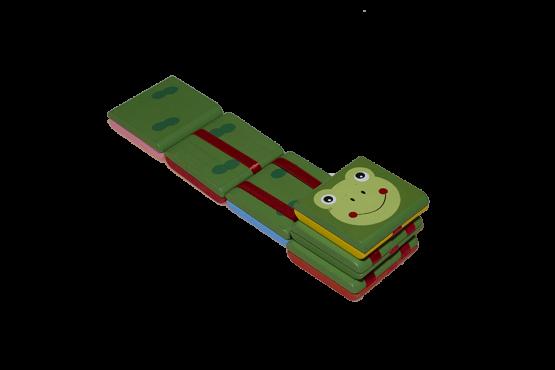 Escalera mágica con el dibujo de una rana