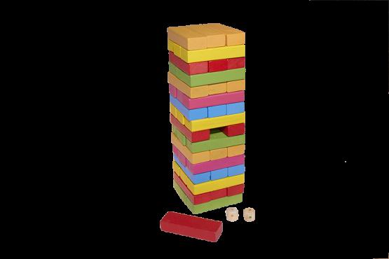 Yenga de madera de colores