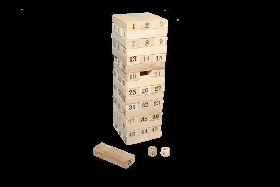 Yenga de madera con números