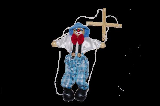 Marioneta de madera de payaso