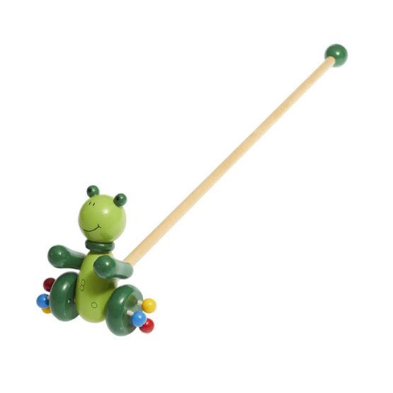 Correpasillo de juguete en forma de rana
