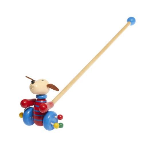 Correpasillo de madera en forma de perro