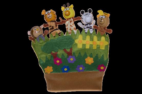 Títere guante para niños de animales