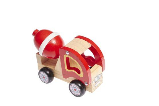 Camión hormigonera de madera