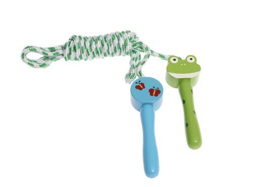 Saltador para niños en forma de rana
