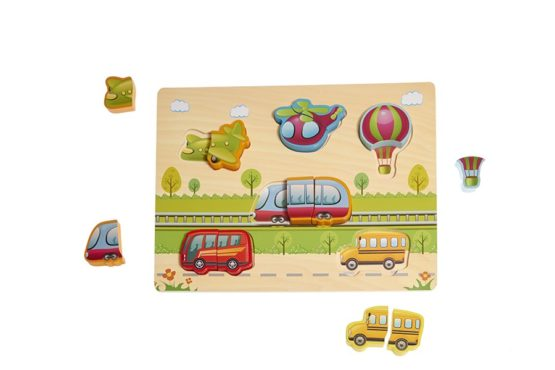 Encajable de juguete con transportes