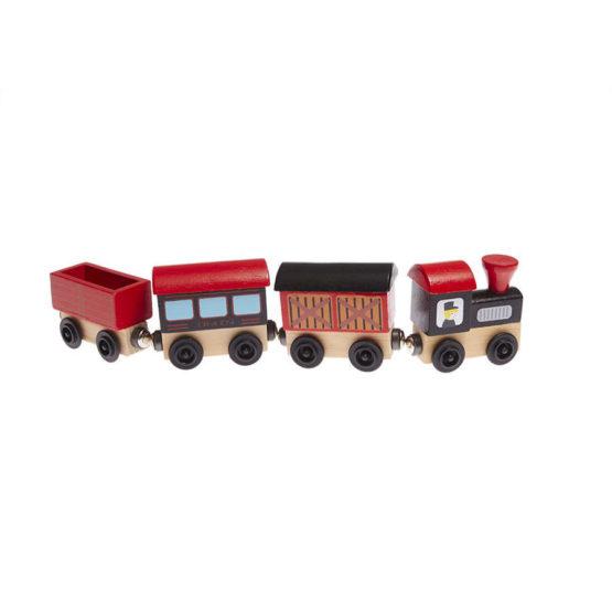Tren de madera para niños de mercancías con imán