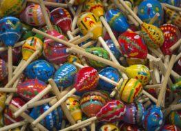 maracas de madera para niños
