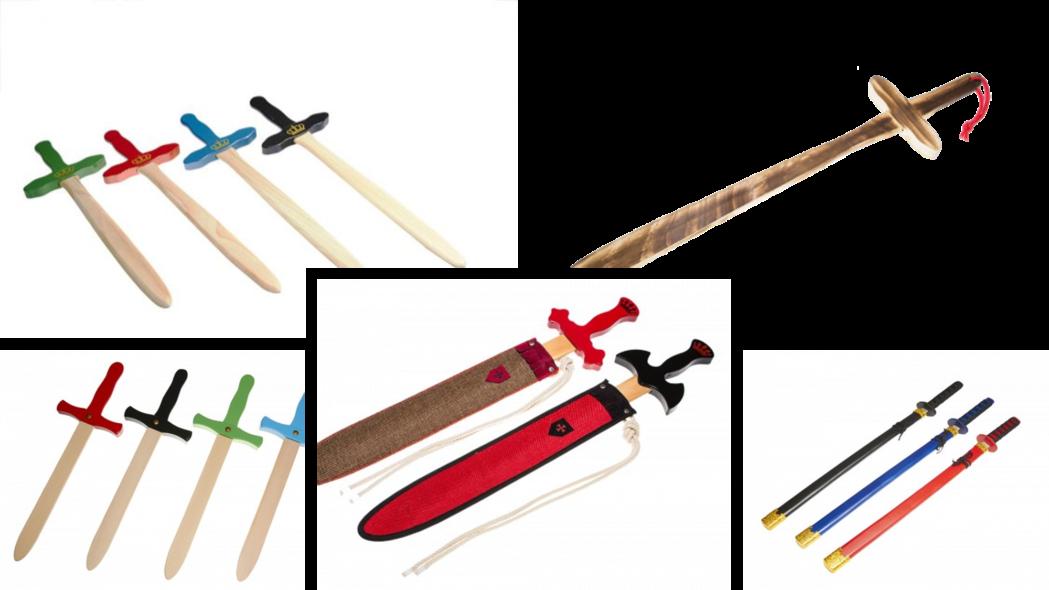 espada de madera para niños