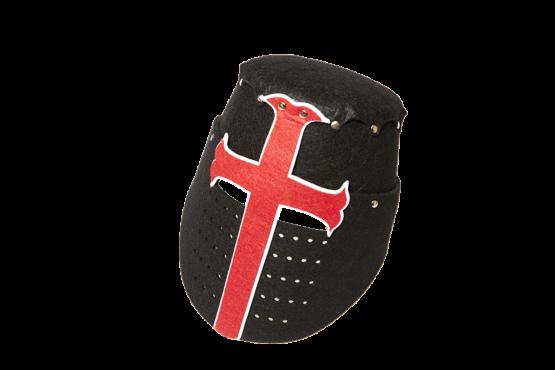 Casco Caballero Medieval Fieltro Negro