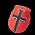 Casco Caballero Medieval Fieltro Rojo