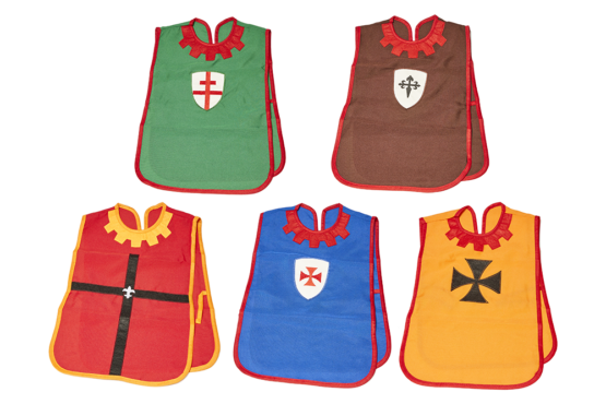 Petos para disfraz infantil medieval