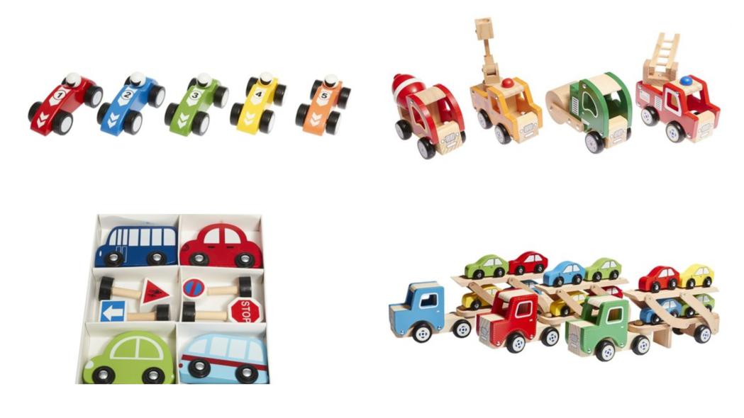juguetes de madera coches para niños