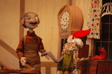 Juguetes de madera obra marioneta de madera