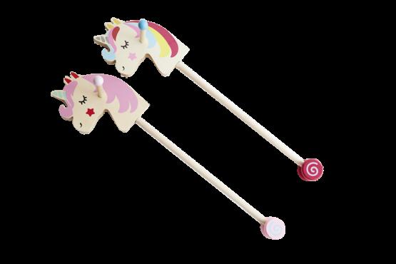Unicornio de palo para niños
